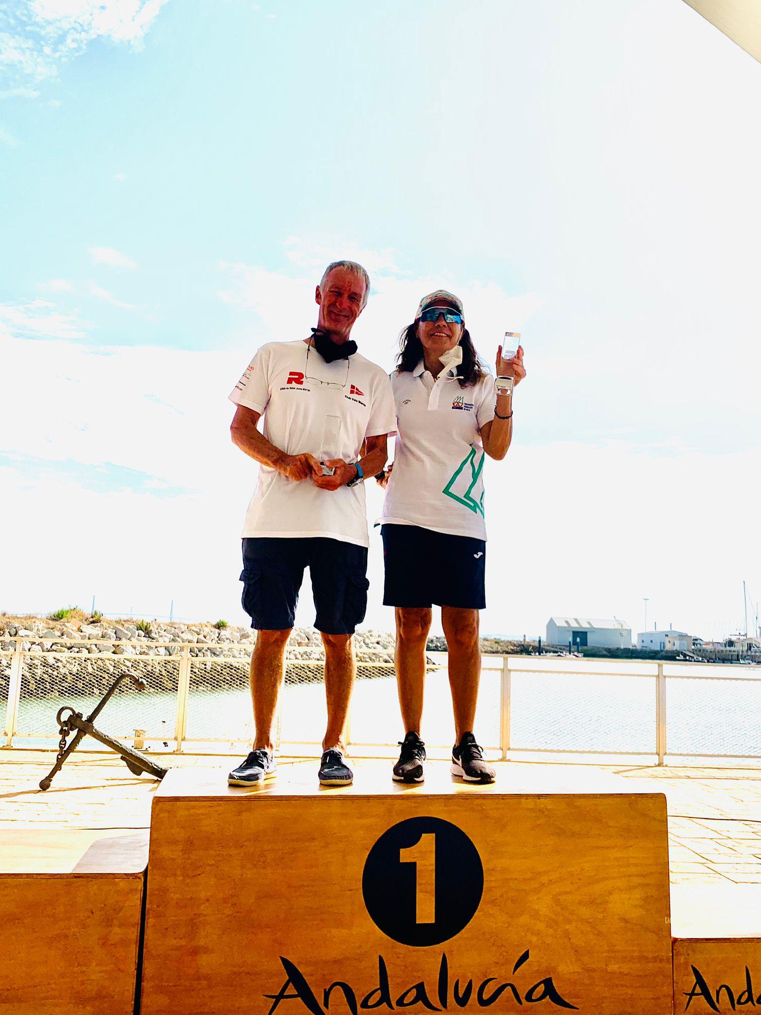 Jordi Bosch campió veterà i Laura Cabezas 3ª femenina pugen al podi de la Copa d'Espanya de Raceboard.