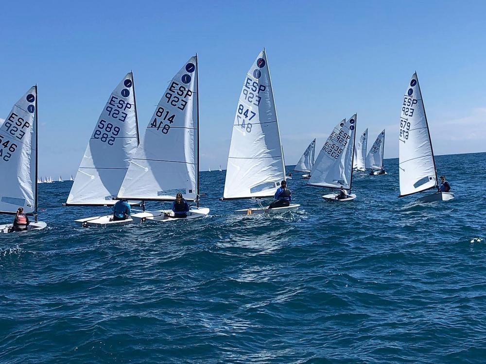 Els Europe del Club Vela Blanes participen a la N2 del Balís