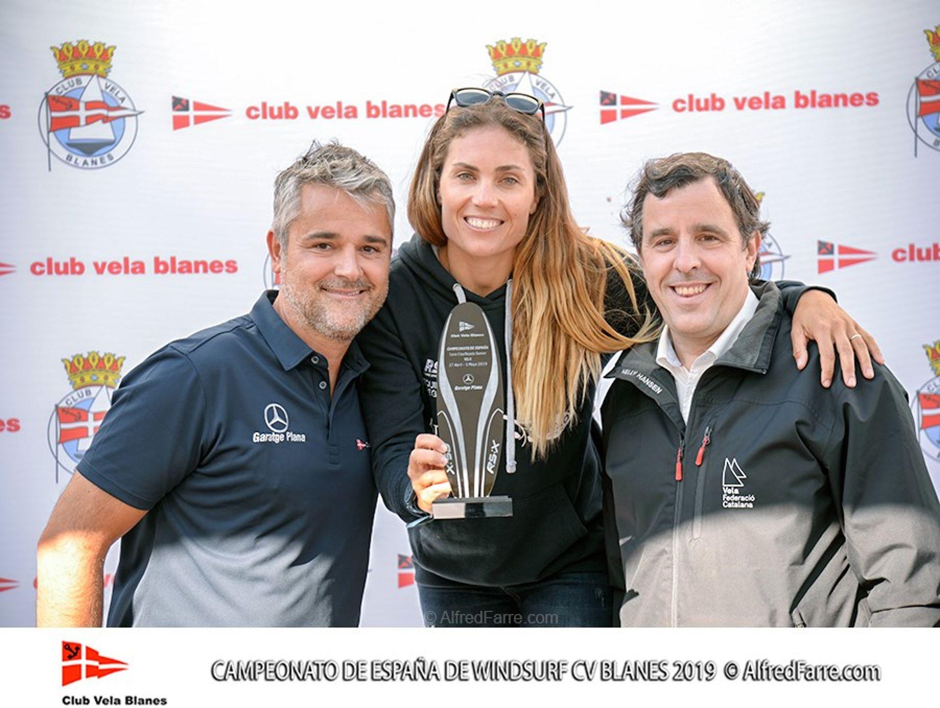 Els germans Manchón protagonistes del Campionat d'España de windsurf a Blanes. Curro es proclama campió d'España en Raceboard i Blanca domina de principi a fi el RS:X Femení.