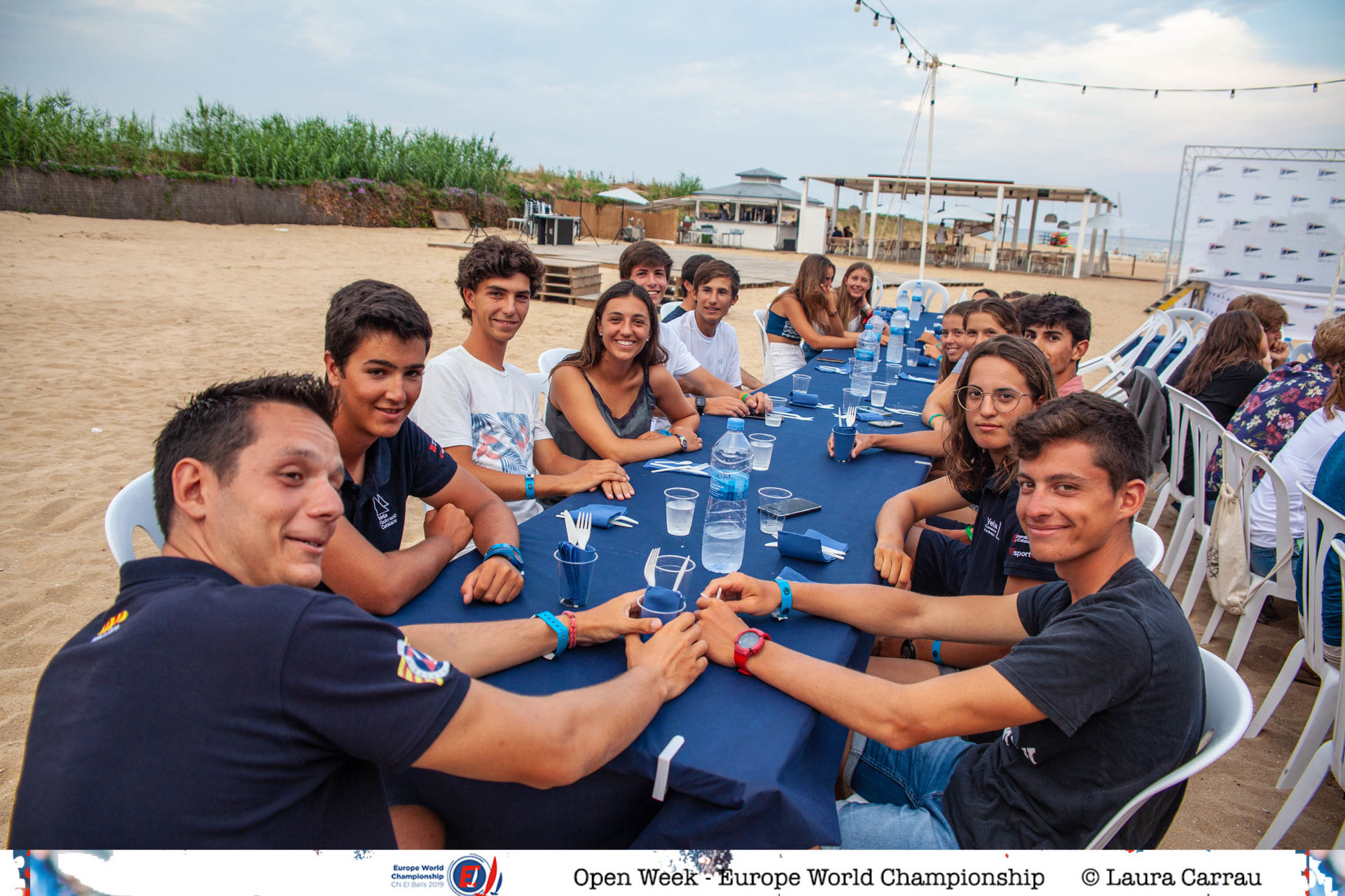 The sailors from Blanes Gal·la, Gemma, Oscar and Pol finish the world class European championship at the El Balís Sailing Club