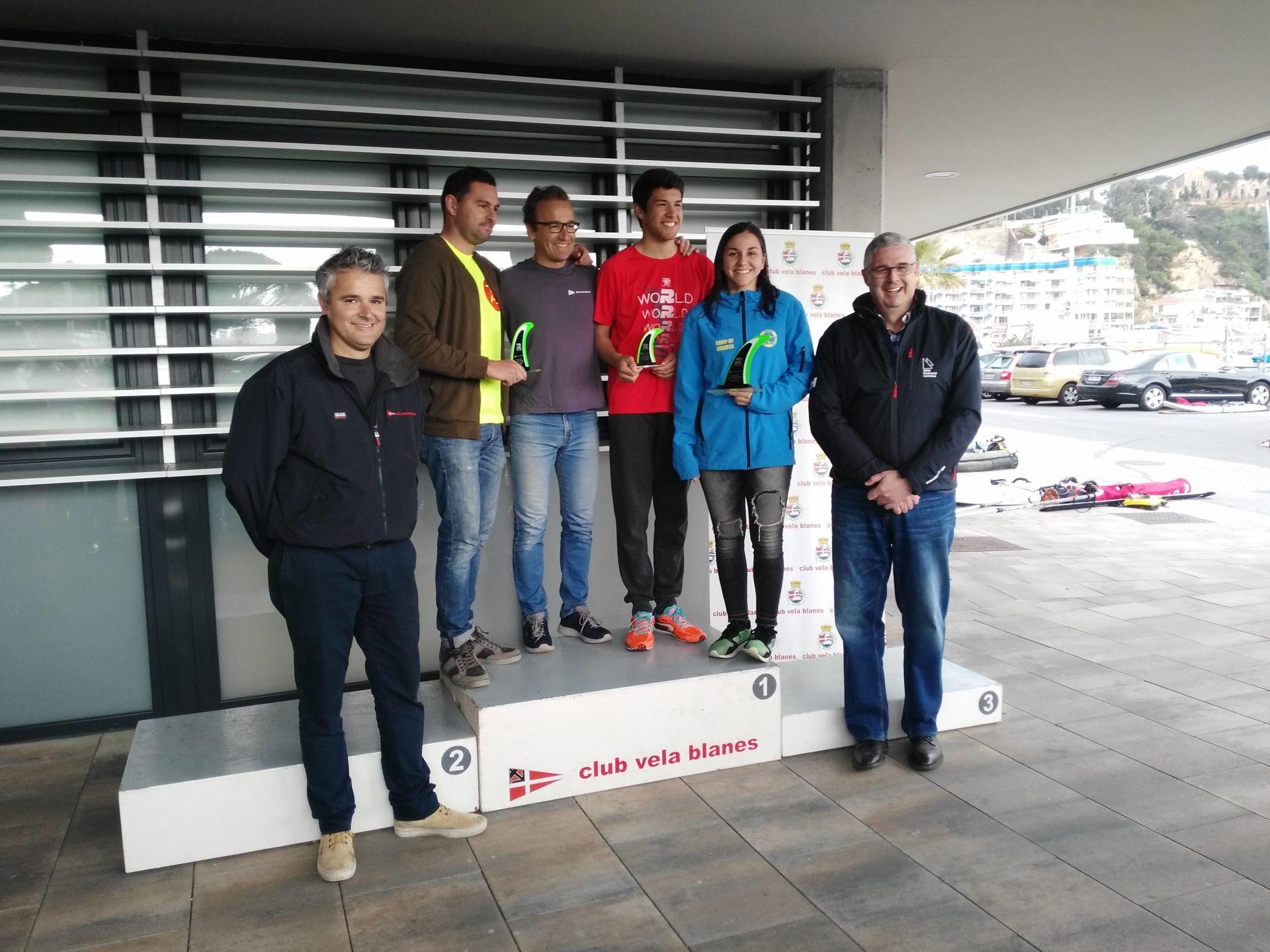 Marc Tusquets del CVB, a la classe Raceboard, Campió del Trofeu Primavera N2