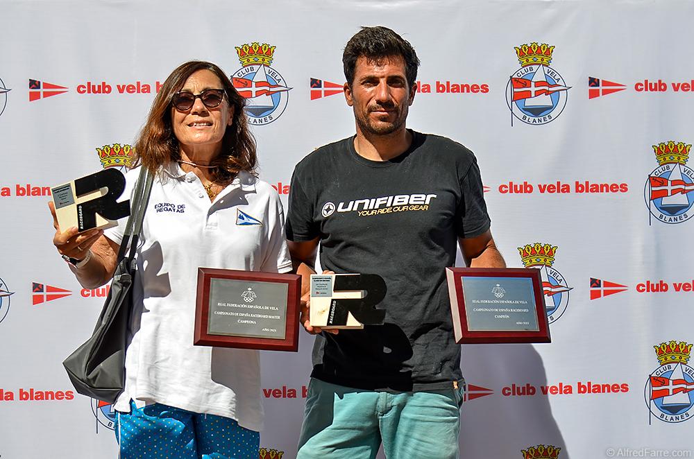 Curro Manchón i Anto Domínguez Campions d'Espanya de Raceboard.