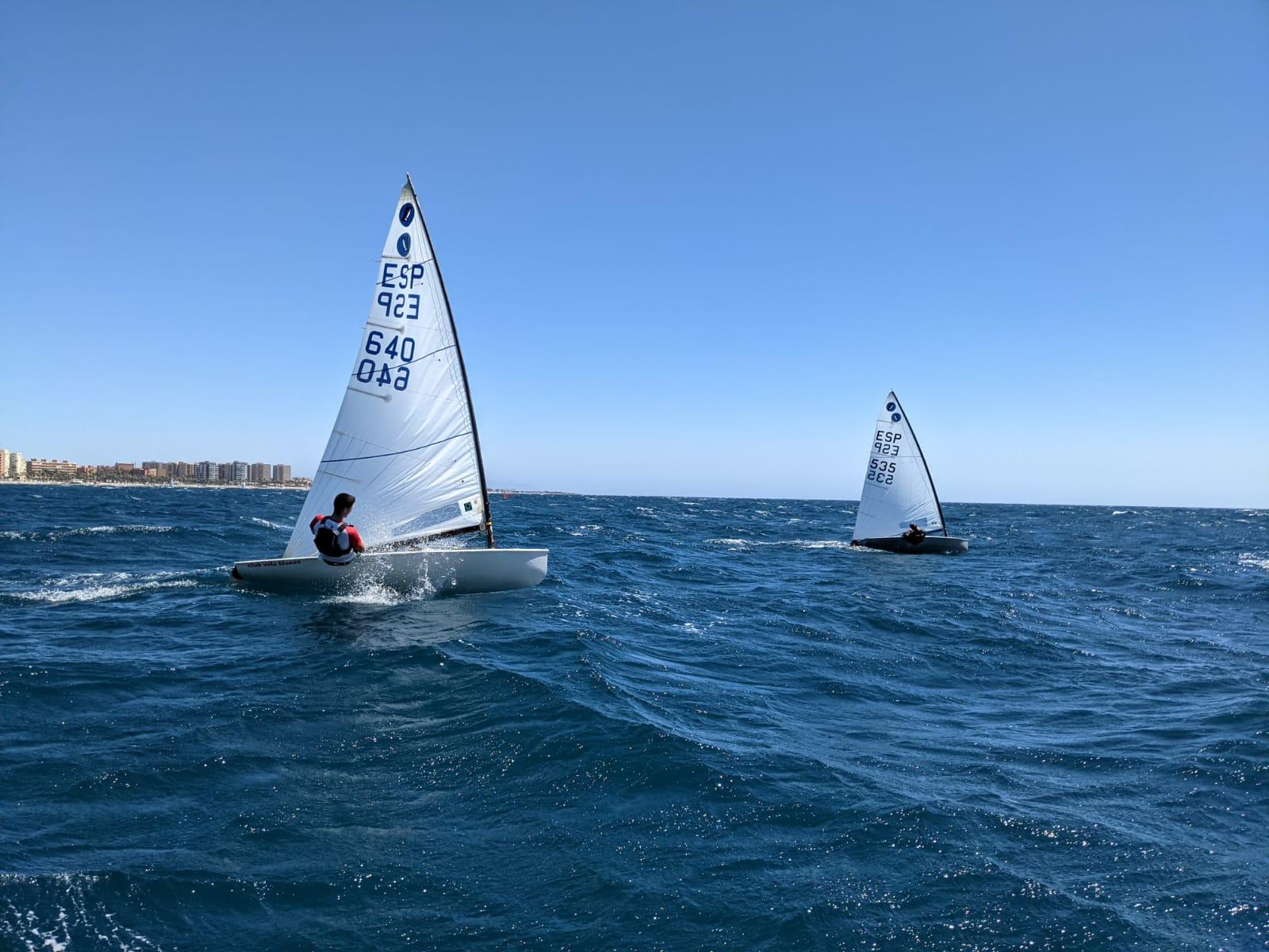 Marina, Pol, Oscar i Martí participen a la Copa d'Espanya classe Europa a Almeria.