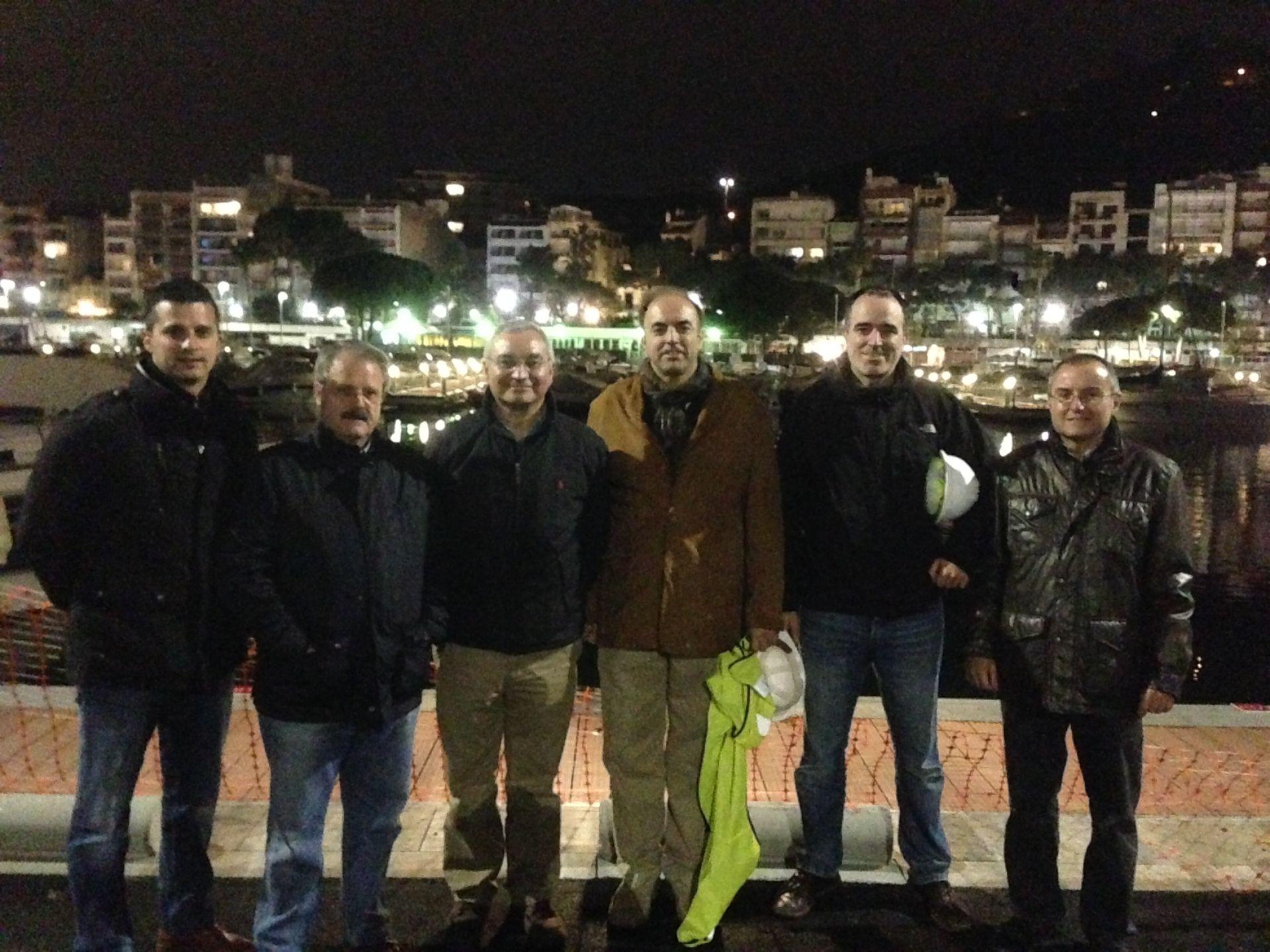 El gerent del Consorci del Port de Mataró visita les obres del Club de Vela Blanes