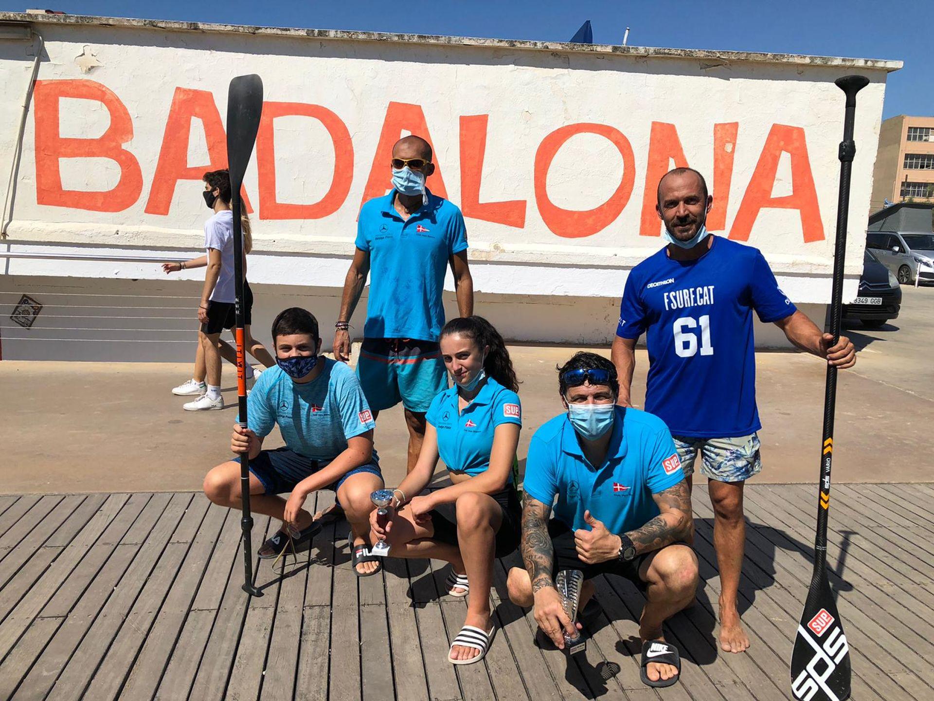 Extraordinària participació de l'equip de paddle surf del Club Vela Blanes al III Trofeu Sup Race Badalona 2020
