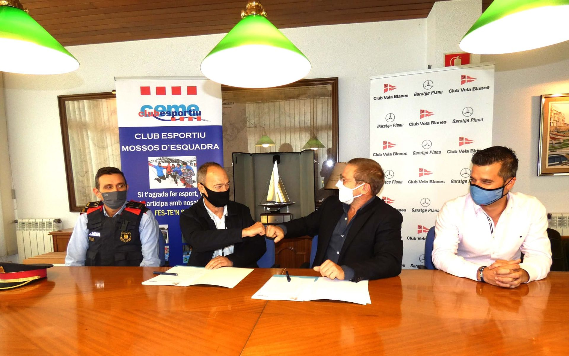 CEME i CVB signen un conveni de col·laboració d'àmbit esportiu i solidari.