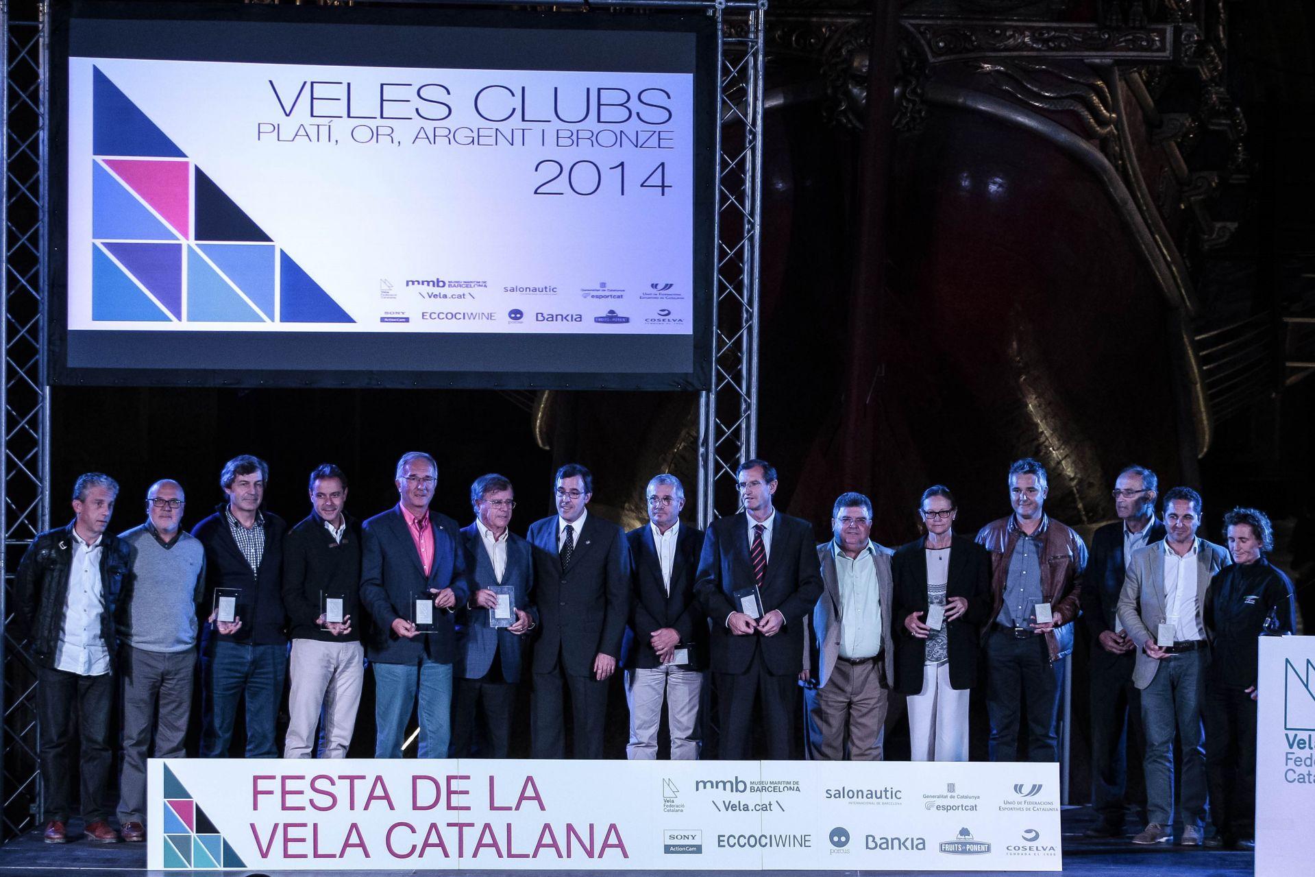 El Club Vela Blanes entre els millors del 2014 a la Festa de la Vela Catalana.