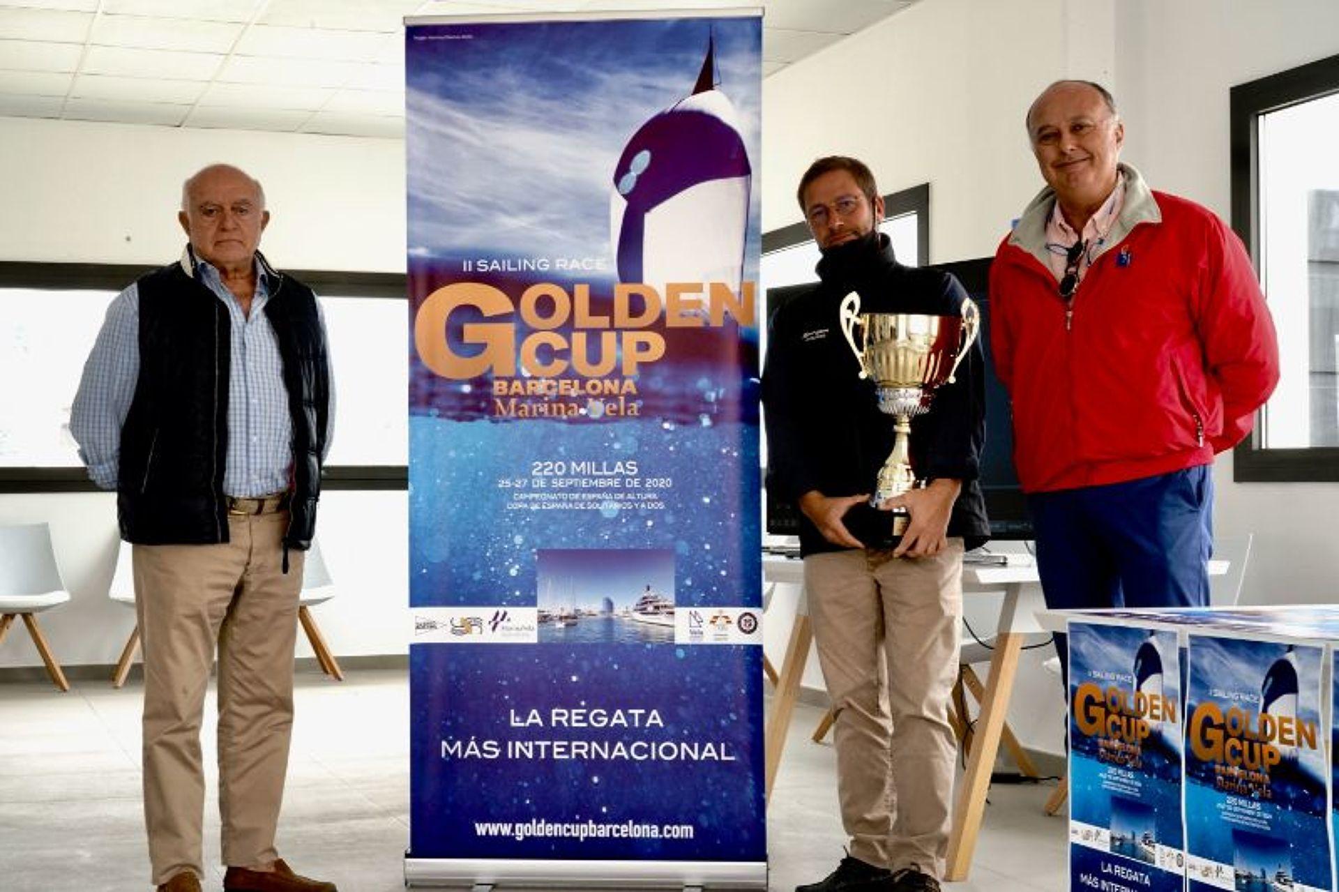 El Korrigan 4 guanyador absolut de la II edició de la Golden Cup Barcelona Marina Vela.