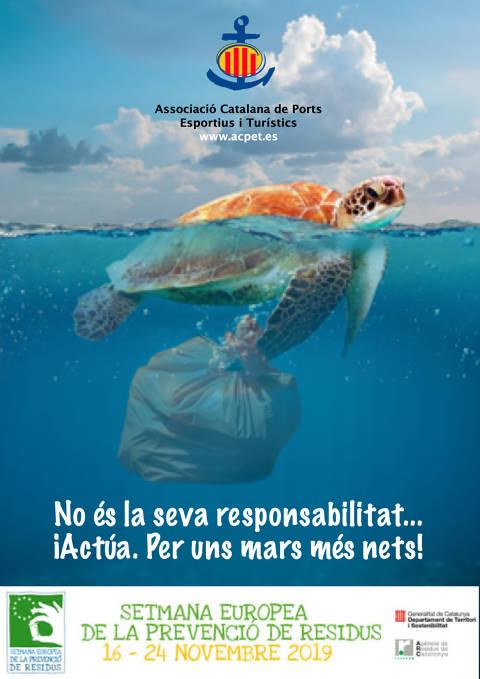 El Club de Vela Blanes s'adhereix a la doble campanya de sostenibilitat, de la FCV i l'ACPET, en la Setmana Europa de Prevenció de Residus. - 1