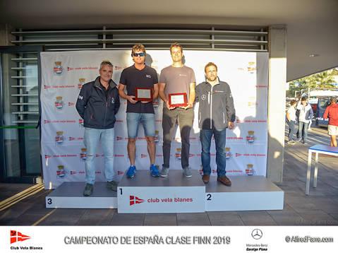 El català Carlos Ordóñez (Club Vela Blanes) Campió d'Espanya Absolut de la classe Finn 2019