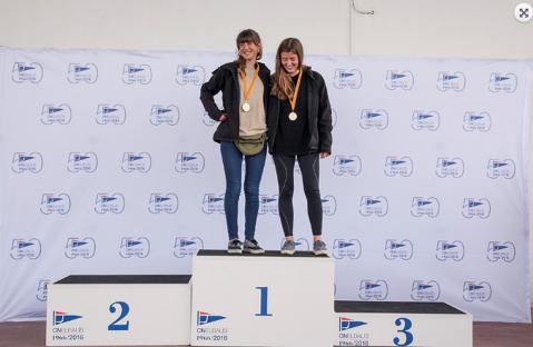 Anna Gimeno e Irene Casañé Campiones femenines de Catalunya de la classe 420 al VII Velanium Trophy del CN Balís