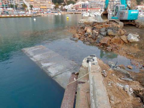 El president de l'Associació Catalana de Ports esportius i Turístics (ACPET), el sr. Tomàs Gallart, visita les instal·lacions i les obres del Club de Vela Blanes - 1