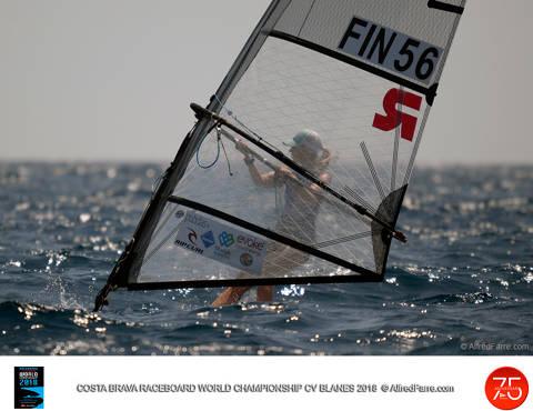 Aleksandra Blinnikka en dones i Joao Rodrigues lideren el Costa Brava World Championship de Raceboard.