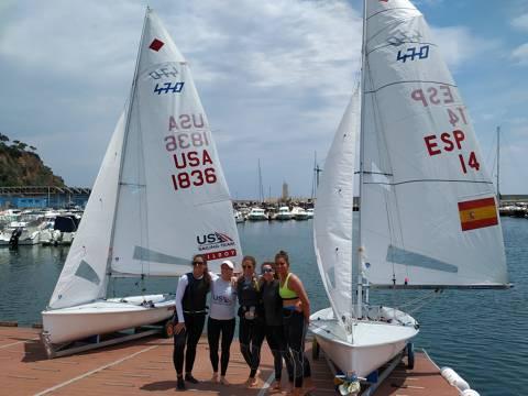Les regatistes olímpiques trien el Club de Vela Blanes