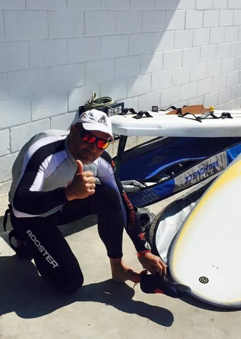 Luís Camacho del CVB, únic català de la classe Raceboard a la Olympic Week Comunitat Valenciana