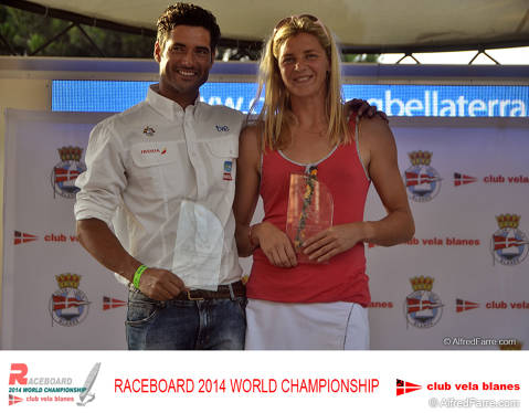 Ivan Pastor and Vita Matise Raceboard World Champions in Blanes