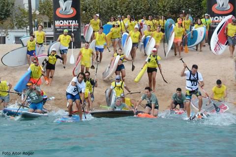 Èxit de participació al ?I Gran Premi de Paddle Surf Costa Brava' de Blanes amb més d'un centenar de participants - 1
