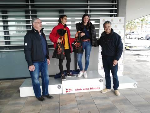 Marc Tusquets del CVB, a la classe Raceboard, Campió del Trofeu Primavera N2 - 5