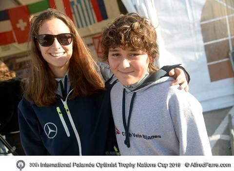Guillem Manresa i Pol Gragera participen a la 30ena Palamós Optimist Trophy amb mes de mig miler de regatistes.