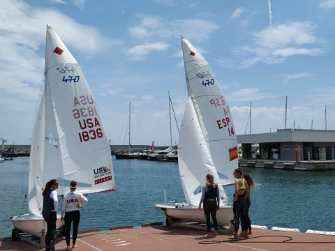 Les regatistes olímpiques trien el Club de Vela Blanes - 1