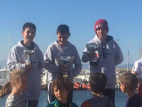 El Grup-3 d'Optimist del CVB copa el podi de la IX Costa Brava Sailing Meeting de l'Escala.