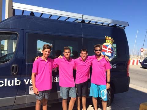 Part del nou Equip de Regates de la classe europe debuta al Campionat d'Espanya a Puerto Sherry