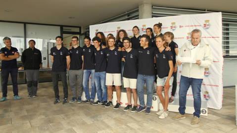 Ascensión Roca (RCNT) i Rafa Rabasa (CN Balís) Campions de la Copa d'Espanya 2018 - 1