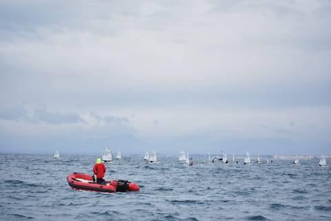 Martí Piguillem primer podi del 2019 de la classe optimist