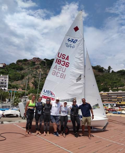 Les regatistes olímpiques trien el Club de Vela Blanes - 2