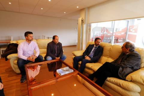 El president de la Generalitat visita les nostres instal·lacions.