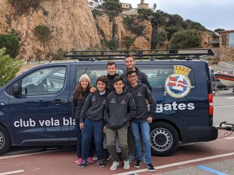 Els blanencs de la classe europa participen a la primera regata de l'any a Sant Feliu