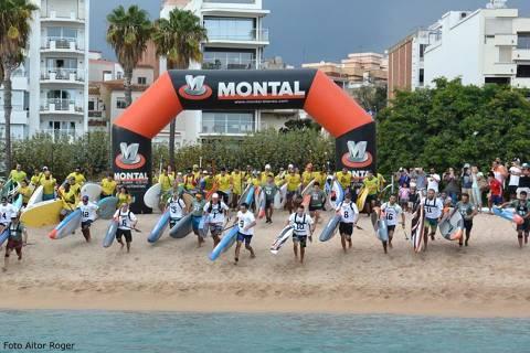 Èxit de participació al ?I Gran Premi de Paddle Surf Costa Brava' de Blanes amb més d'un centenar de participants