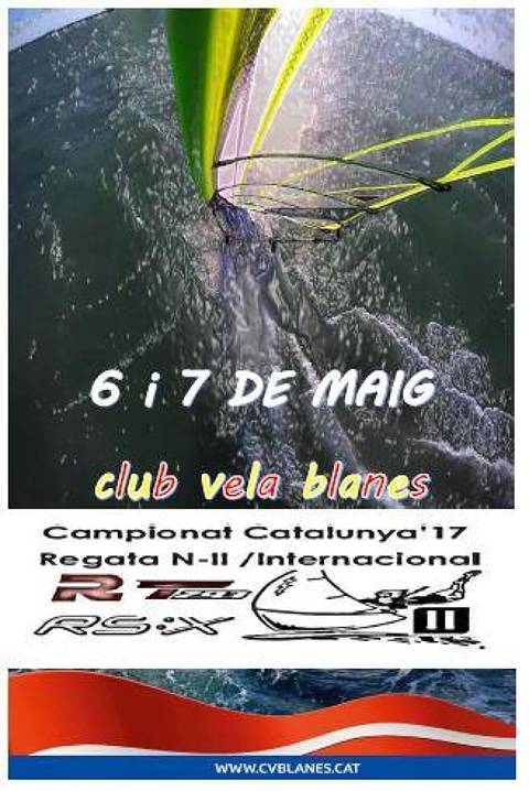 Campionat Catalunya 2017 Raceboard / Techno 293 N-2 RS:X / Iniciació Internacional División II