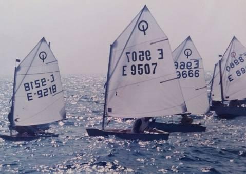 A la dècada dels 70 la família Depares, va ser l'ànima dels optimist en el Club Vela Blanes - 6