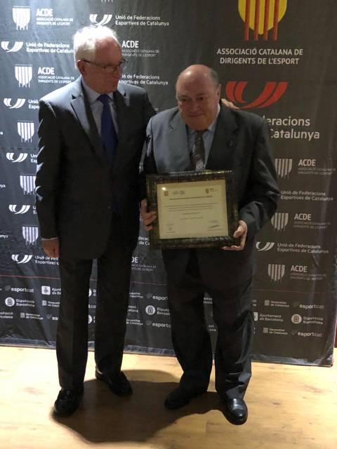 El president del CVB, Amadeu Nualart i Felip, guardonat al sopar de gala de la Nit del Dirigent de l'ACDE (Asociació Catalana de Dirigents Esportius) - 3