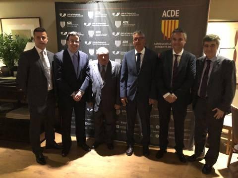 El president del CVB, Amadeu Nualart i Felip, guardonat al sopar de gala de la Nit del Dirigent de l'ACDE (Asociació Catalana de Dirigents Esportius) - 1